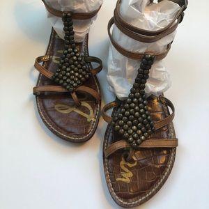 Sam Edelman brown leather gladiator sandals